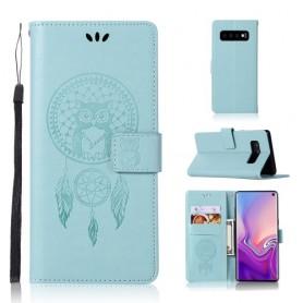 Samsung Galaxy S10 mintunvihreä unisieppari suojakotelo