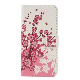 Samsung Galaxy S10 vaaleanpunaiset kukat suojakotelo