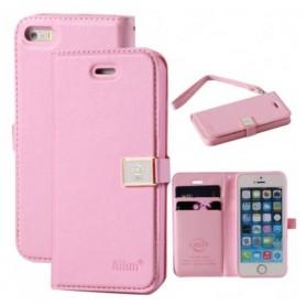iPhone 5 vaaleanpunainen suojakotelo