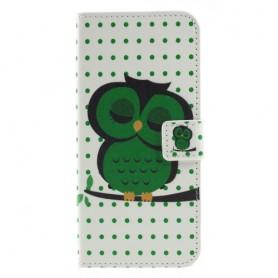 Nokia 5.1 Plus vihreä pöllö suojakotelo