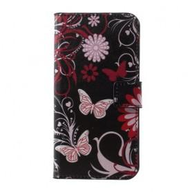 Samsung Galaxy S10e kukkia ja perhosia suojakotelo