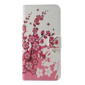 Samsung Galaxy S10e vaaleanpunaiset kukat suojakotelo