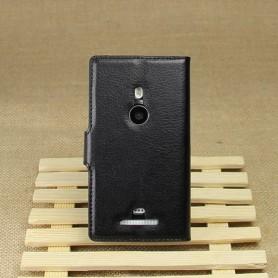 Lumia 925 musta lompakkokotelo
