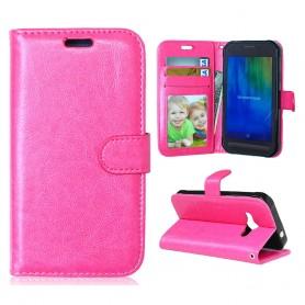 Galaxy Xcover 3 hot pink puhelinlompakko