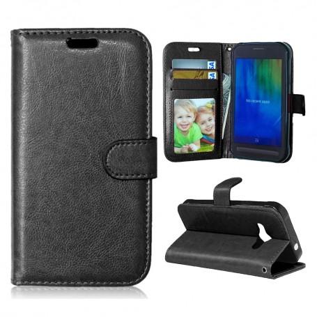 Samsung Xcover 3 musta puhelinlompakko