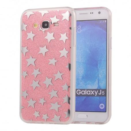 Galaxy J5 ruusukulta tähdet kuoret.
