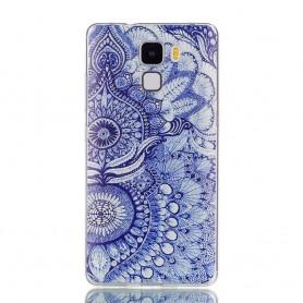 Huawei Honor 7 sininen kuvio suojakuori.