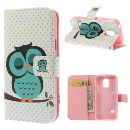 Galaxy S5 Mini pöllö lompakkokotelo