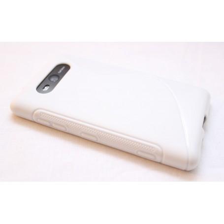 Lumia 820 valkoinen silikoni suojakuori.