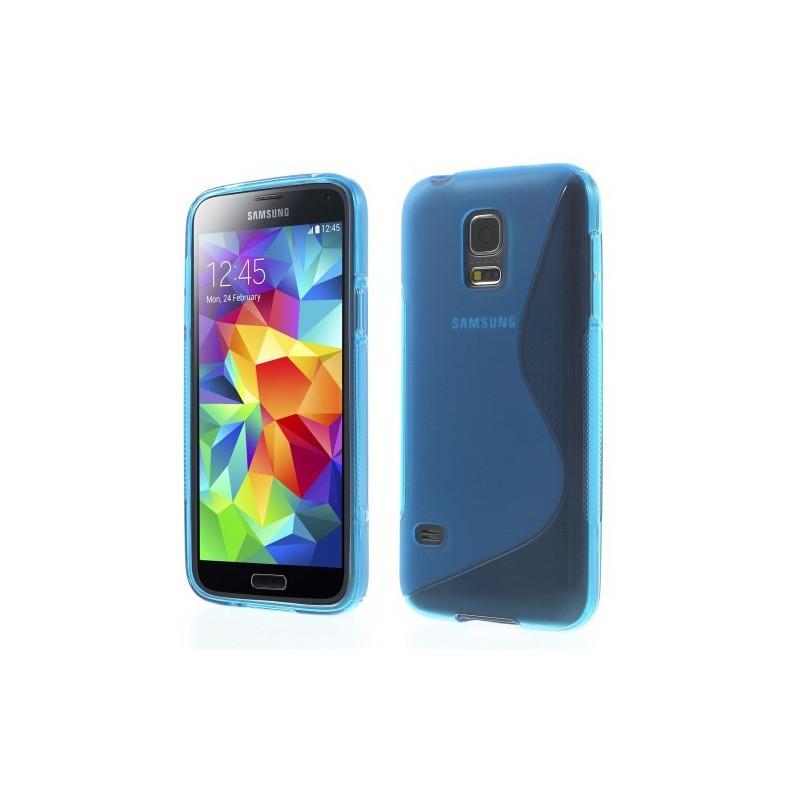 Galaxy S5 Mini sininen silikonisuojus.