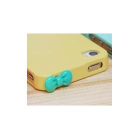Koriste kännykkään - vaaleanvihreä rusetti.