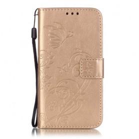 Galaxy S5 kullanvärinen perhoset puhelinlompakko