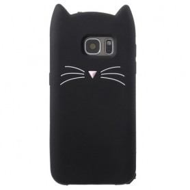Samsung Galaxy S7 musta kissa suojakuori