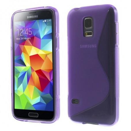 Galaxy S5 Mini violetti silikonisuojus.