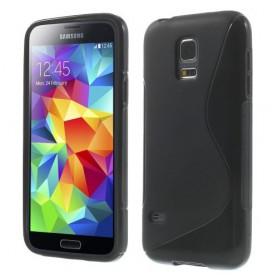Galaxy S5 Mini musta silikonisuojus.