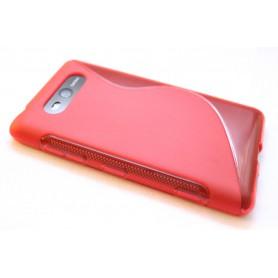 Lumia 820 punainen silikoni suojakuori.
