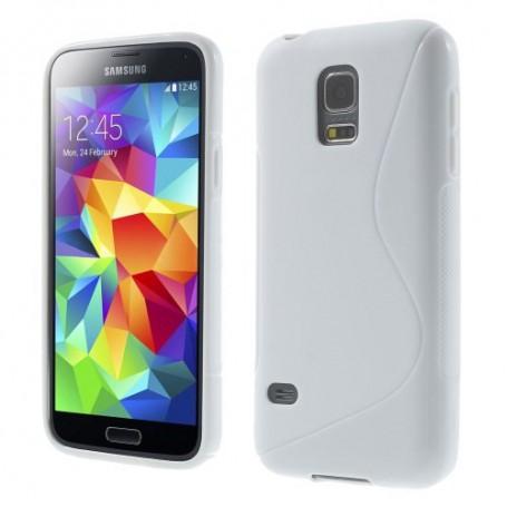 Galaxy S5 Mini valkoinen silikonisuojus.