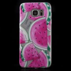 Samsung Galaxy s7 edge läpinäkyvä vesimeloni suojakuori.