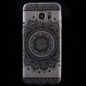 Samsung Galaxy s7 edge läpinäkyvä mandala suojakuori.
