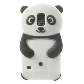 Samsung Galaxy S5 valkoinen panda silikonisuojus.