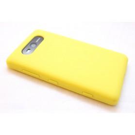 Lumia 820 keltainen silikoni suojakuori.
