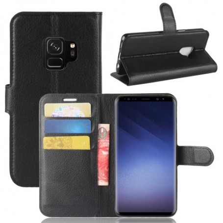 Samsung Galaxy S9 musta puhelinlompakko