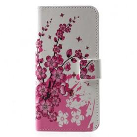 Huawei P30 vaaleanpunaiset kukat suojakotelo