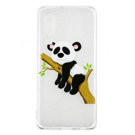 Huawei P30 läpinäkyvä nukkuva panda suojakuori.