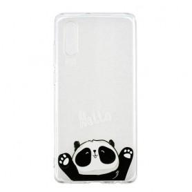 Huawei P30 läpinäkyvä hello panda suojakuori.