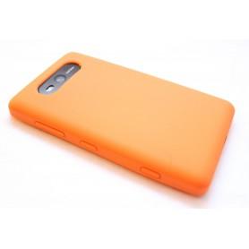 Lumia 820 oranssi silikoni suojakuori.