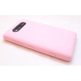 Lumia 820 vaaleanpunainen silikoni suojakuori.