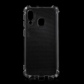 Samsung Galaxy A40 läpinäkyvä suojakuori.