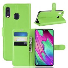 Samsung Galaxy A40 vihreä suojakotelo
