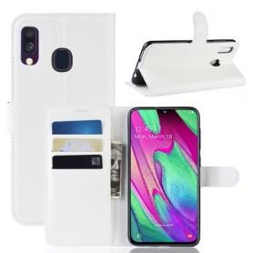 Samsung Galaxy A40 valkoinen suojakotelo