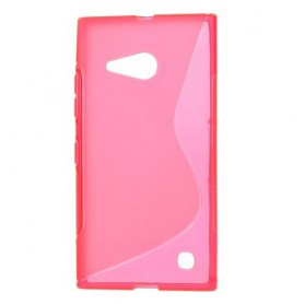 Lumia 735 roosan punainen silikonikuori.