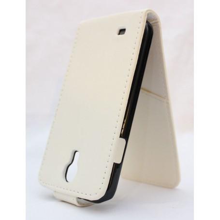 Galaxy S4 valkoinen läppäkotelo.