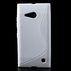 Lumia 735 valkoinen silikonikuori.