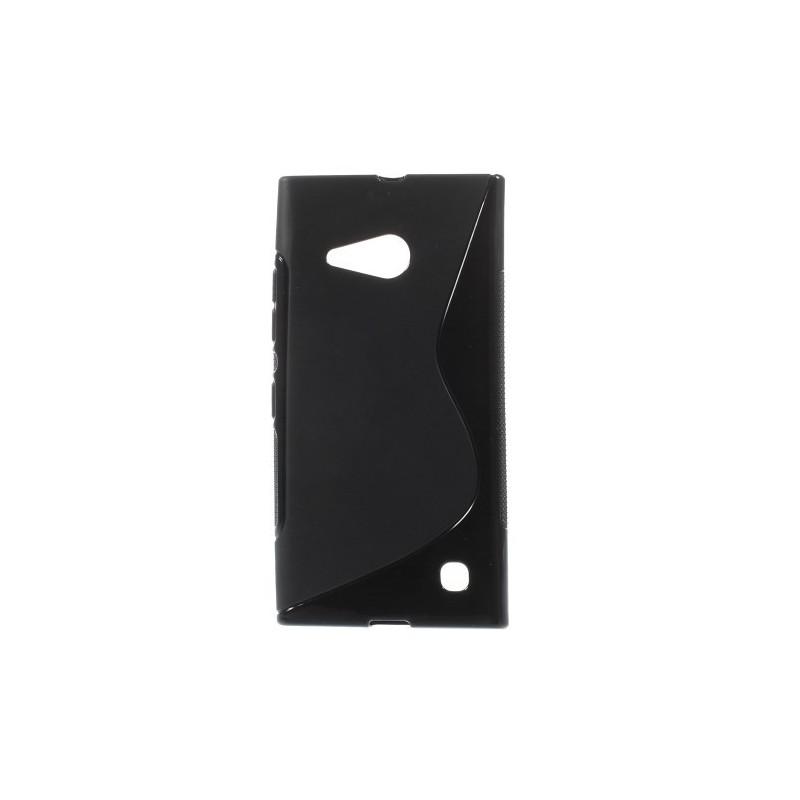 Lumia 735 musta silikonikuori.