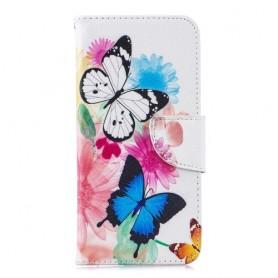 Huawei Honor 8A värikkäät perhoset suojakotelo