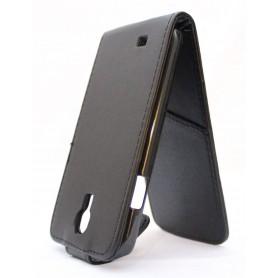 Galaxy S4 musta läppäkotelo.