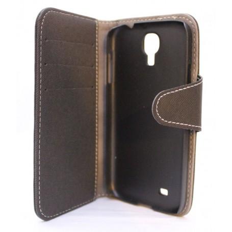 Galaxy S4 musta lompakkokotelo.
