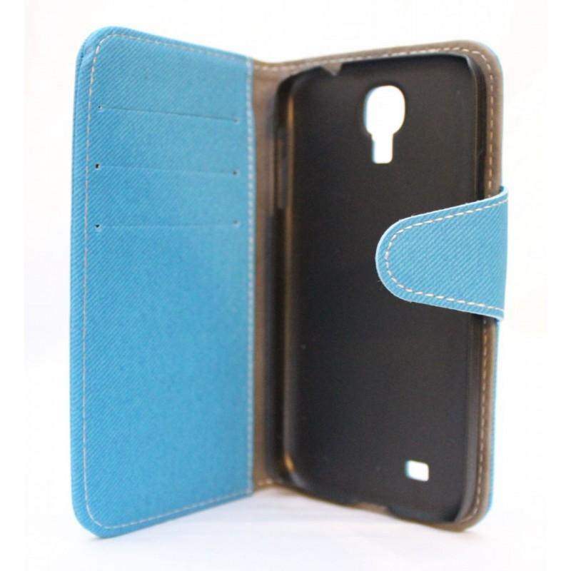 Galaxy S4 sininen lompakkokotelo.