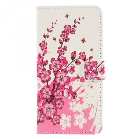 Huawei P30 Lite vaaleanpunaiset kukat suojakotelo