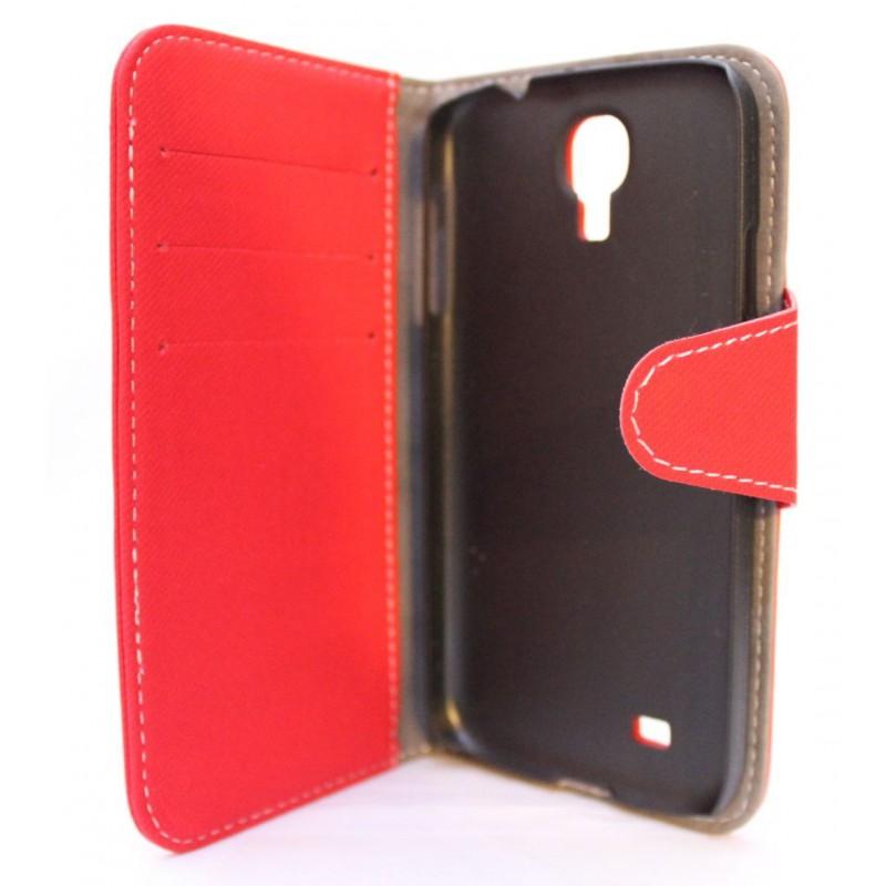 Galaxy S4 punainen lompakkokotelo.