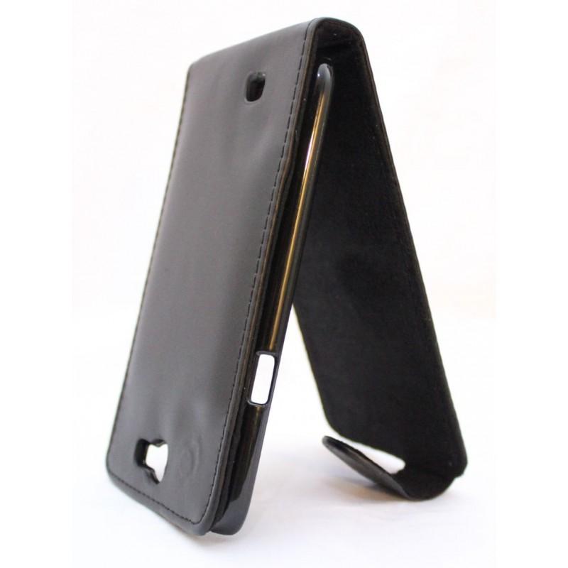 Galaxy Note 2 musta läppäkotelo.