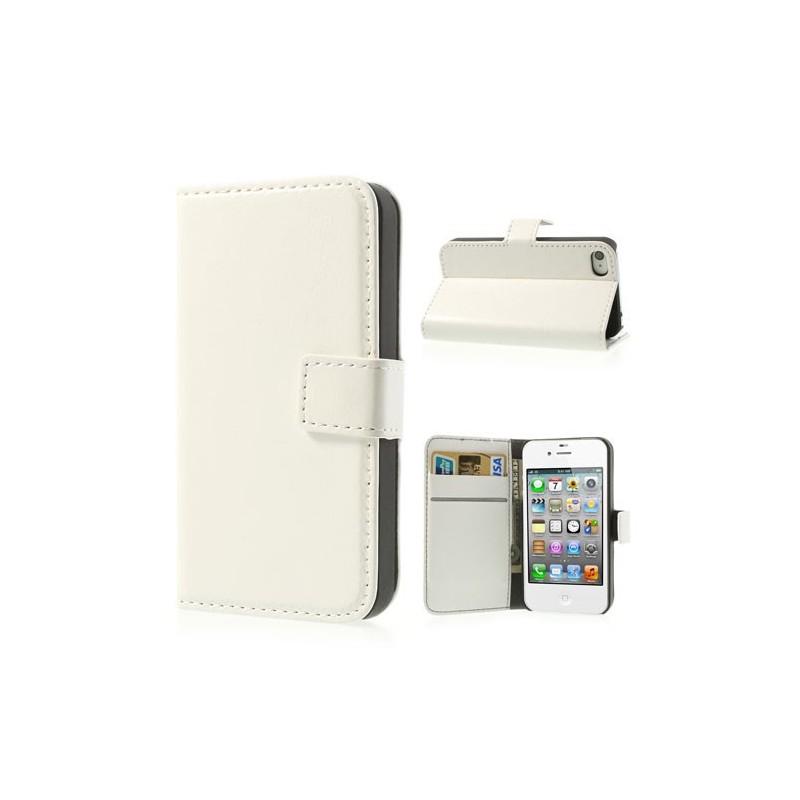 iPhone 4 valkoinen puhelinlompakko