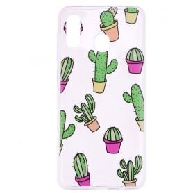 Samsung Galaxy A20e läpinäkyvä kaktus suojakuori.