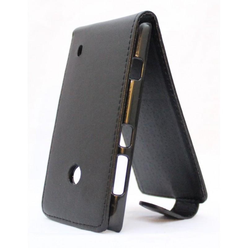 Lumia 520 musta läppäkotelo.