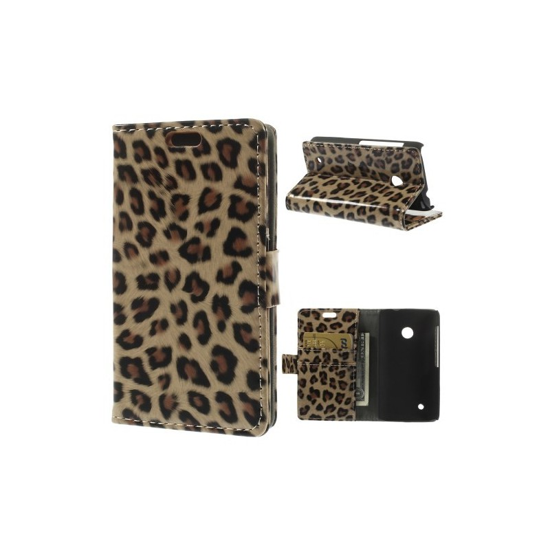 Lumia 530 leopardi puhelinlompakko