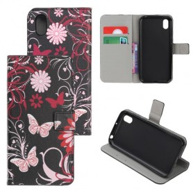 Huawei Honor 8S kukkia ja perhosia suojakotelo